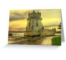Torre de Belém.... Greeting Card