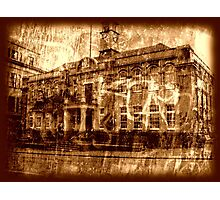 Town Hall - Sepia Photographic Print