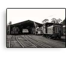 The Railway Yards - The Engine Shed Canvas Print