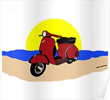 Sun Sea Scooter Poster