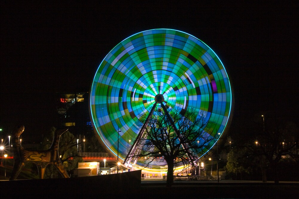 Birrarung Marr Ferris Wheel - greens by Taswegian76