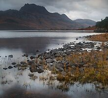 Moody view over Loch by Mabel Forsyth
