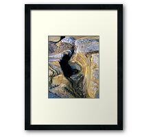 Rock Abstract No 1 Framed Print