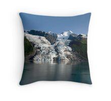 College Fiord Glacier Throw Pillow