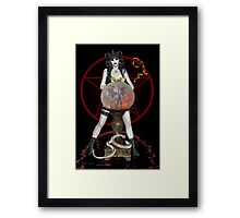 The Dark Side .. a witches spell Framed Print