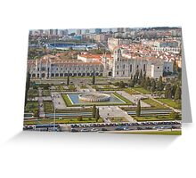 Jerónimos Monastery and the Empire Plaza. Greeting Card