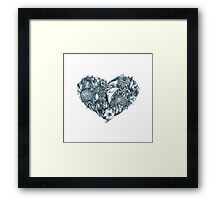 Gothic heart Framed Print
