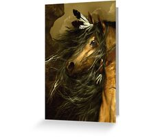 Shikoba - Choctaw Horse  Greeting Card