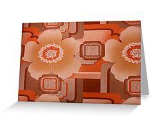 brown flower power Greeting Card