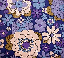 crazy blue flowers by violetstar