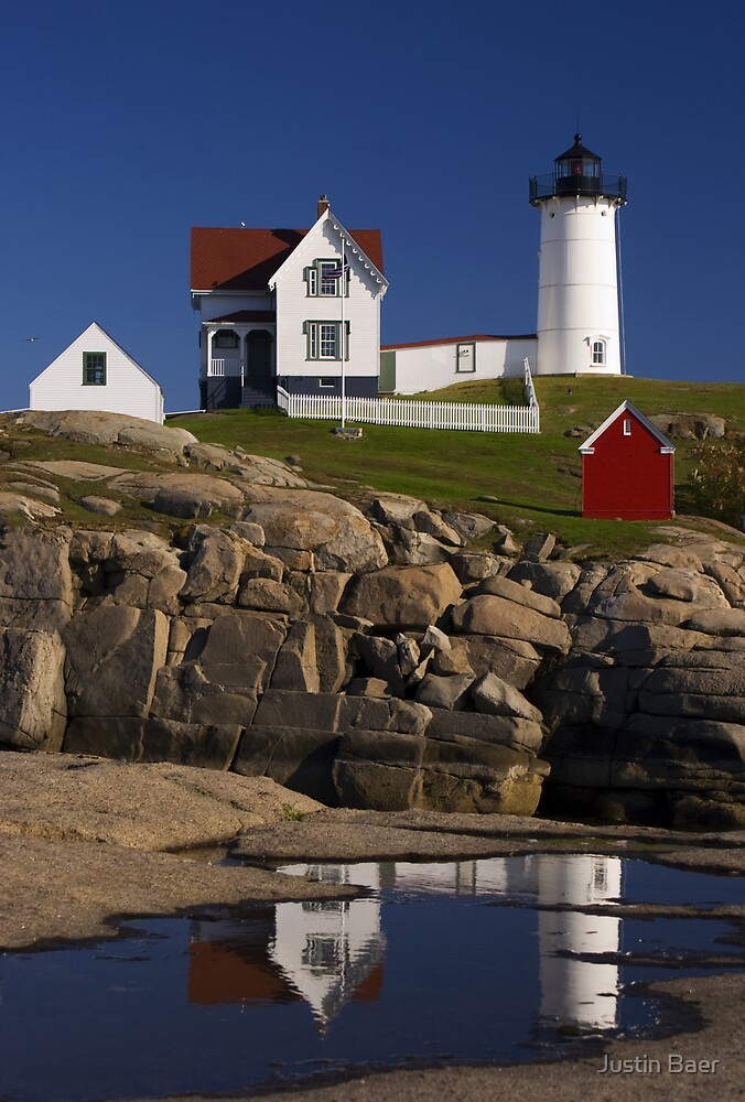 The Nubble Light by Justin Baer