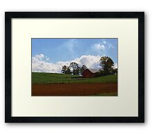 Red Barn - Indiana Framed Print