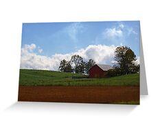 Red Barn - Indiana Greeting Card