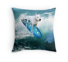 YOU SURFERS HAVE NOTING ON ME...PIT BULL SURFS. PILLOW OR TOTE BAG OR.PICTURE AND OR CARD Throw Pillow