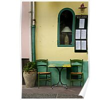 Streetside Table Poster