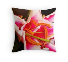 Painted Pistil Throw Pillow