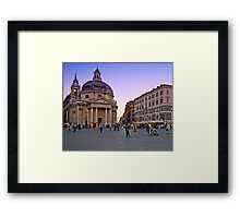 Plaza, Rome Italy Framed Print