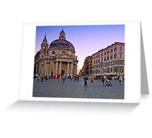 Plaza, Rome Italy Greeting Card