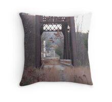 Old Railway bridge Throw Pillow
