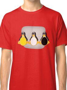 LINUX TUX PENGUIN  3 COLOR EGGS Classic T-Shirt