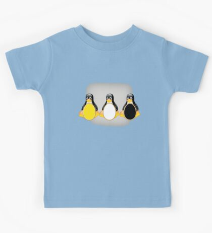 LINUX TUX PENGUIN  3 COLOR EGGS Kids Tee