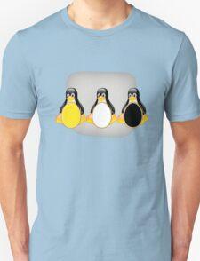 LINUX TUX PENGUIN  3 COLOR EGGS Unisex T-Shirt