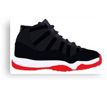 "Air Jordan XI (11) ""Bred"" Canvas Print"