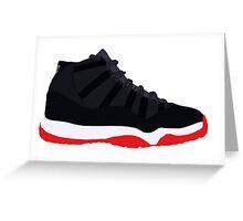"Air Jordan XI (11) ""Bred"" Greeting Card"