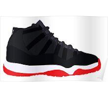 """Air Jordan XI (11) """"Bred"""" Poster"""