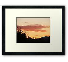 November 9th sunrise Framed Print