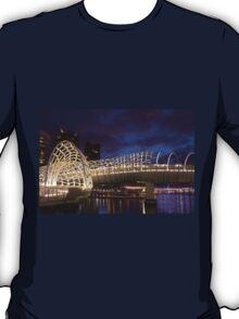 Webb Bridge Twilight Melbourne City Victoria Austalia T-Shirt