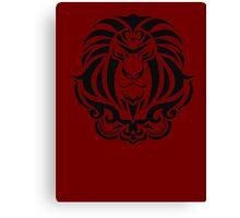 Zodiac Sign Leo Black Canvas Print