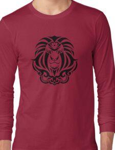 Zodiac Sign Leo Black Long Sleeve T-Shirt