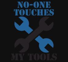 NO-ONE touches my tools funny mechanic spanner car design Baby Tee