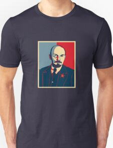 LENIN RED BLUE PORTRET  Unisex T-Shirt