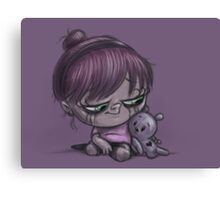 Violet and Friend Canvas Print