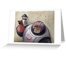 Space Buffoon Greeting Card