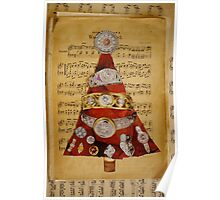 Red diamond tree Poster