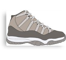 "Air Jordan XI (11) ""Cool Grey"" Canvas Print"
