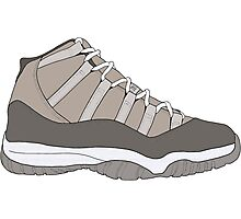 "Air Jordan XI (11) ""Cool Grey"" Photographic Print"