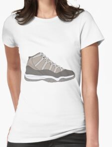 "Air Jordan XI (11) ""Cool Grey"" Womens Fitted T-Shirt"