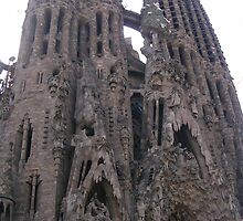 Le Sagrada Familia Cathedral by sharon wingard