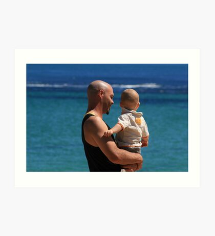 Father and Son. Art Print