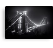 Clifton Suspension Bridge Fog Canvas Print