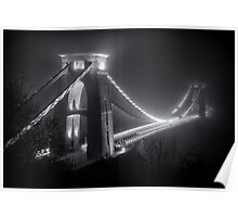 Clifton Suspension Bridge Fog Poster