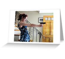 guns in the house Greeting Card