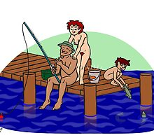 Fishing Family by Nude-is-Life