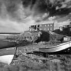 Craster in black and white by Rachael Talibart
