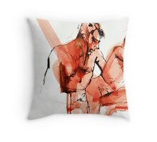 Sitting Here Throw Pillow