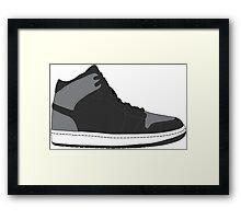 "Air Jordan I (1) ""Shadow"" Framed Print"